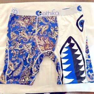Ethika Blue Paisley Boxer Briefs XL - XXL